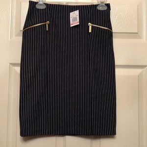 Michael Kors Navy pin stripe Skirt